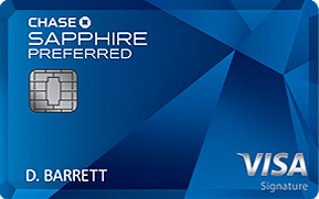 Best Personal Credit Card: Chase Sapphire Preferred