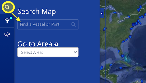 Cruise Ship Tracker: Find a Vessel Step 1