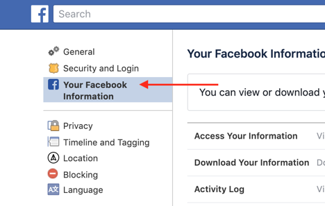 Download Facebook Networking Data, Step 2