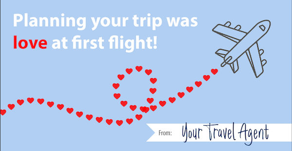 Travel Agent Valentine: Love at first flight