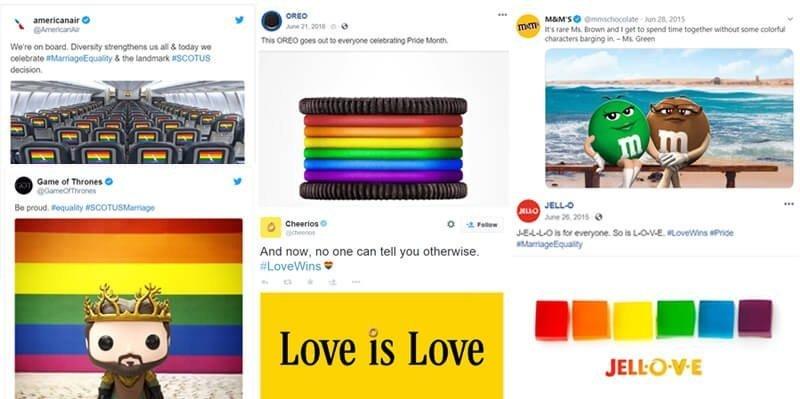 Brands support LGBTQ community on social media