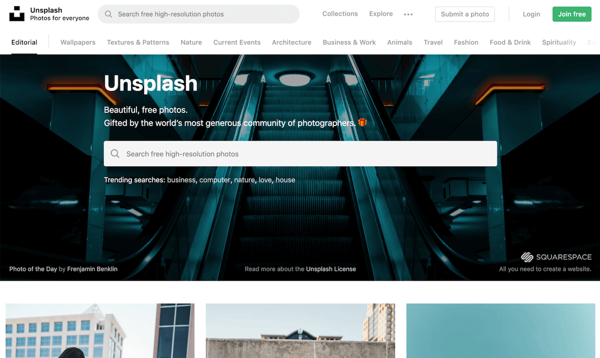 Free Images for Websites Unsplash