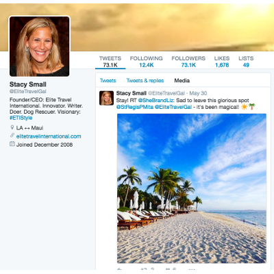 Travel Agent Social Media - Stacy Small