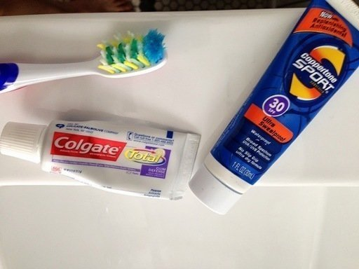 Adventure Travel Mexico (ATMEX) Sunscreen and toothbrush