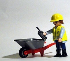 Playmobil construction worker