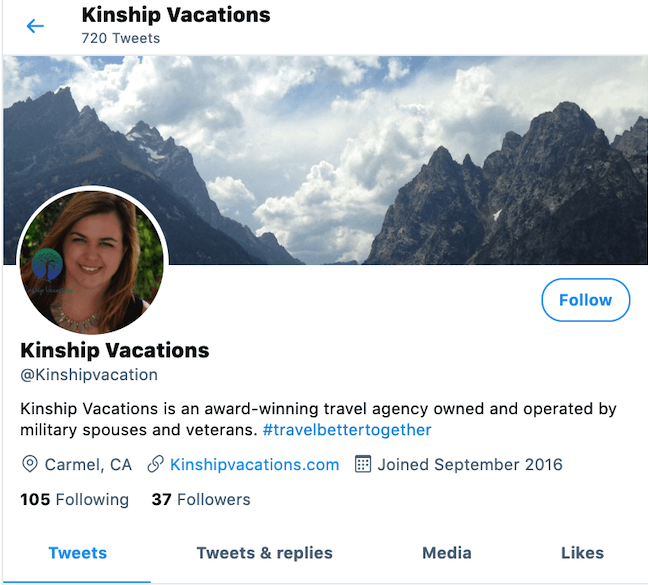 Travel Agent Twitter Example