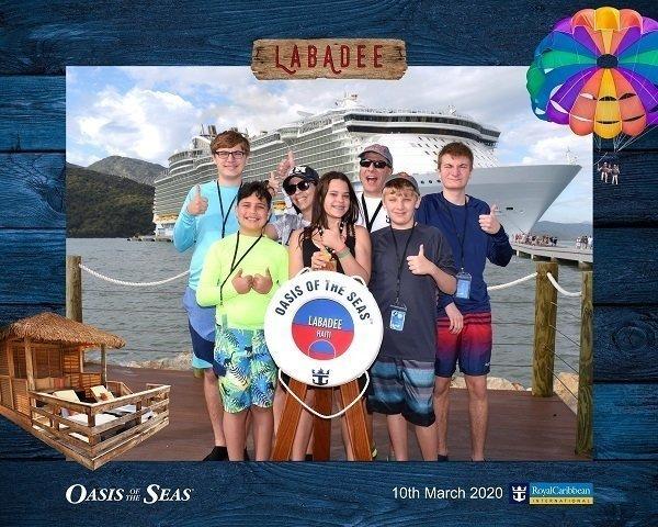 Melissa Vega and Frank Heyliger Family on Cruise