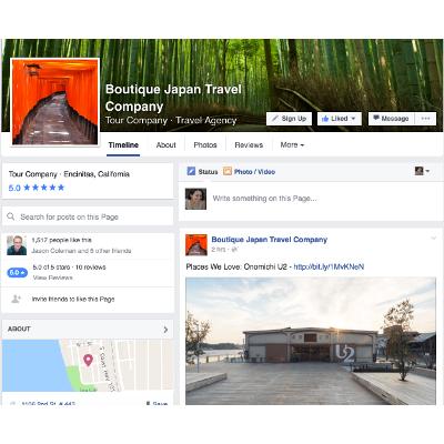 Travel Agent Social Media - Boutique Japan