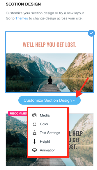 Wix Tutorial - Customized Section Design