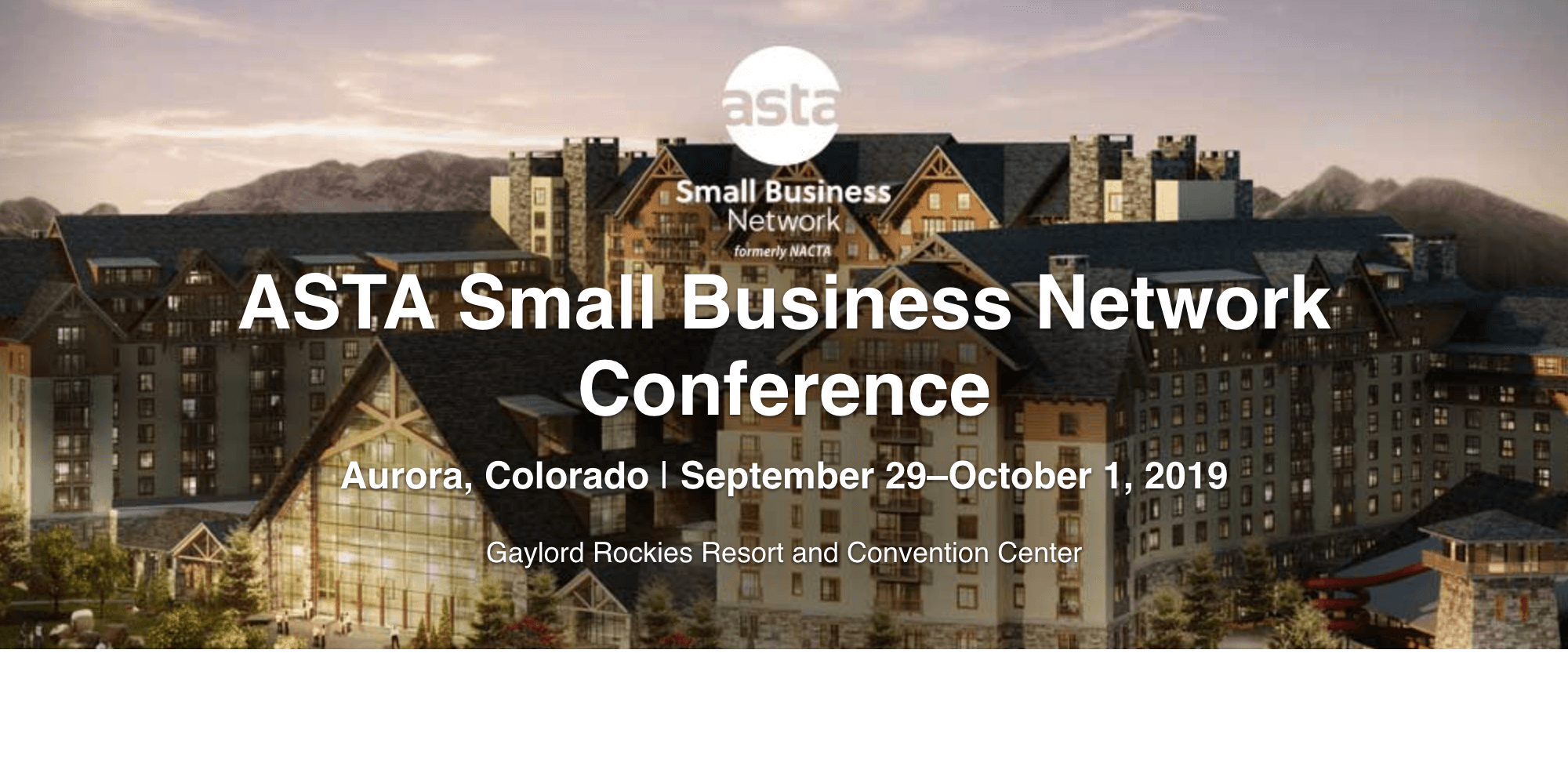 ASTA Small Business Network Conference