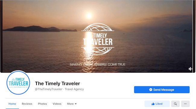 The Timely Traveler Travel Agency Facebook Page
