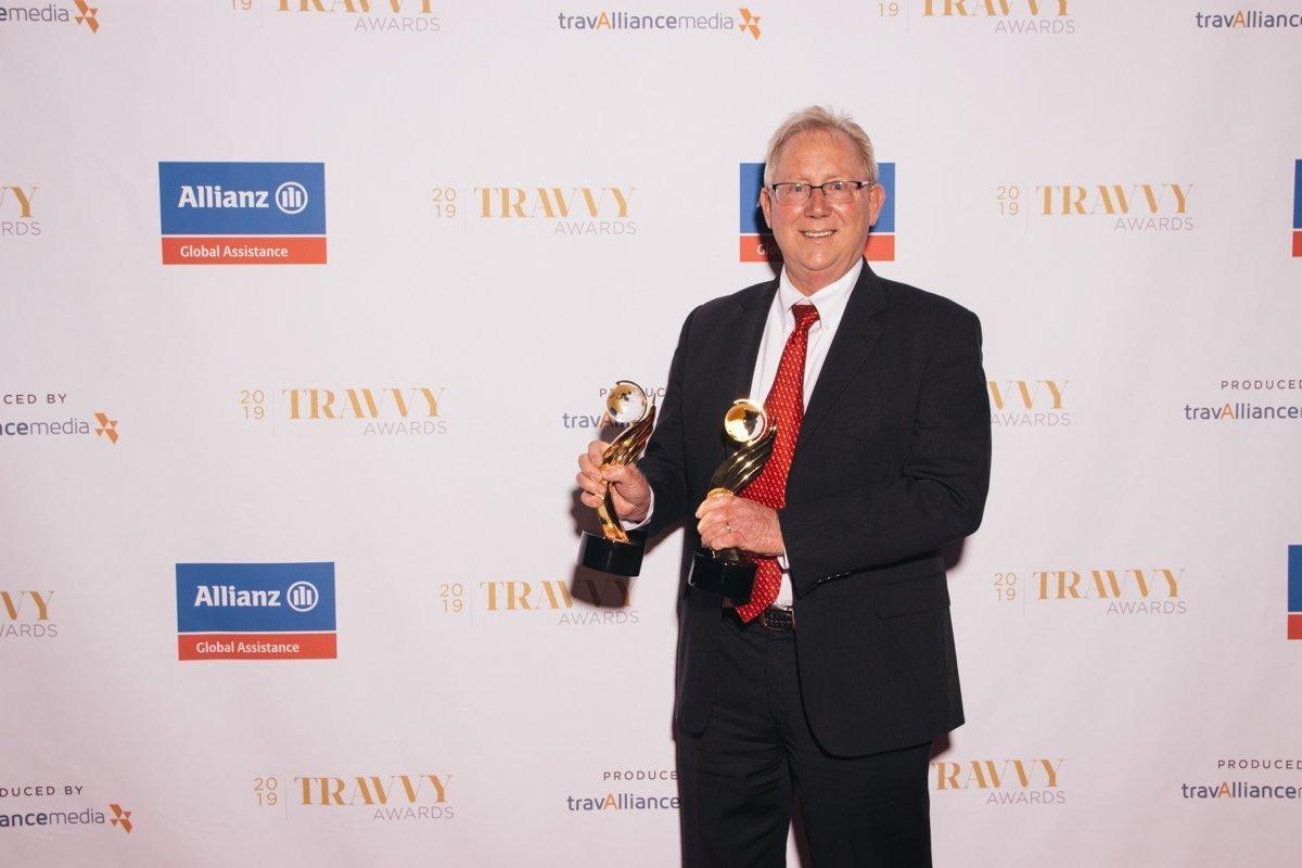 Brad Anderson, VP of Avoya Travel, at 2019 Travvy Awards