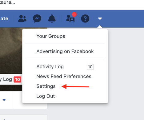 Download Facebook Networking Data, Step 1