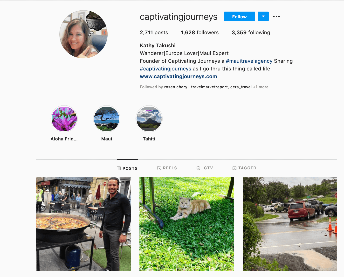 Travel Agent Instagram Profile