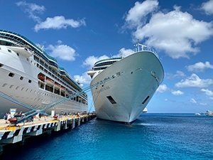 You can only deduct up to $2,000 per year of expenses for things held on cruise ships