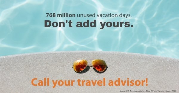 768 million unused vacation days - don't add yours