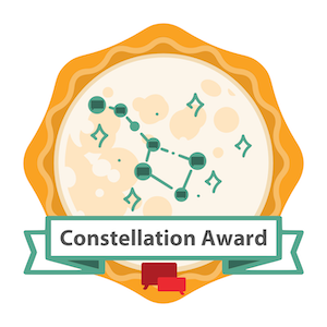 HAR Top Host Agency Constellation Award Badge