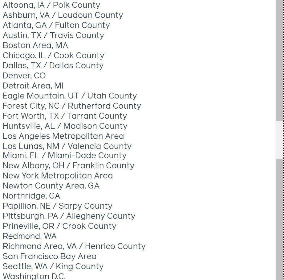 Facebook small business grants program cities