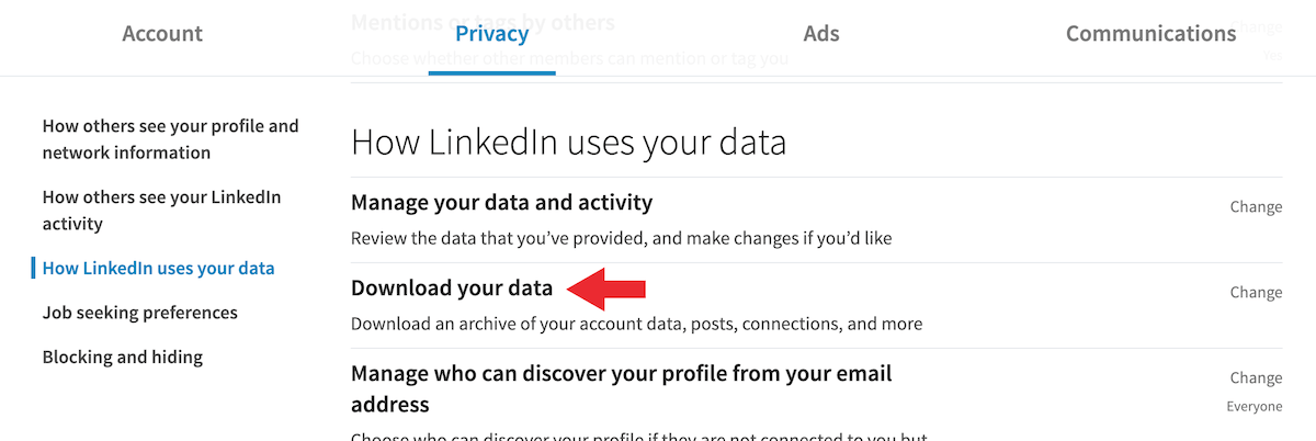 Download LinkedIn Networking Connections Step 2