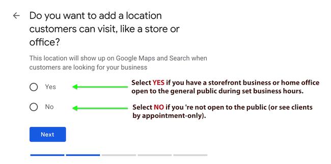 Step 4 - Google My Business Location