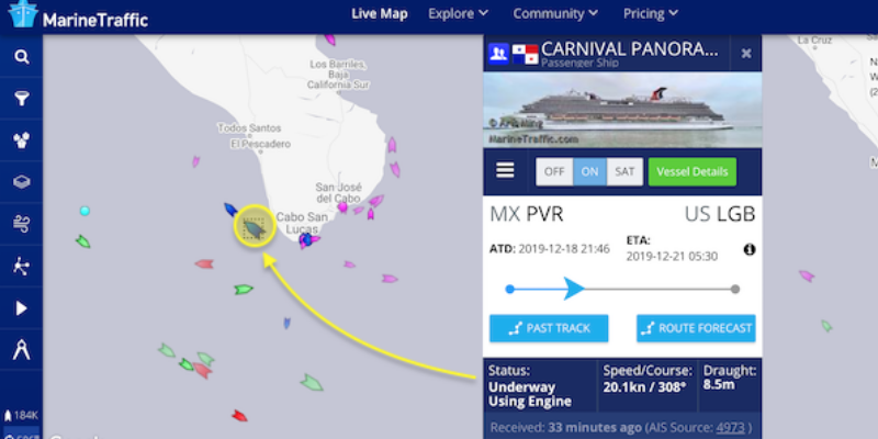 cruise ship tracker header