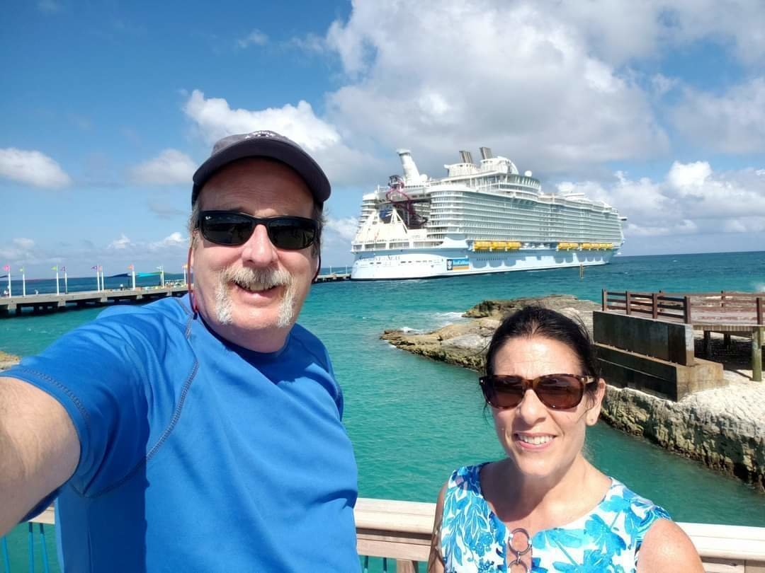 Deb and Mike at Coco Cay