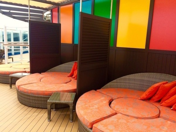 Carnival Vista lounge deck area