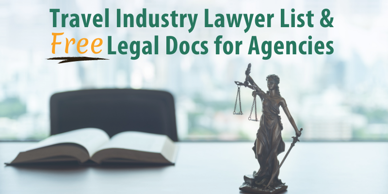 Travel Industry Lawyer List & Free Legal Docs for Agencies