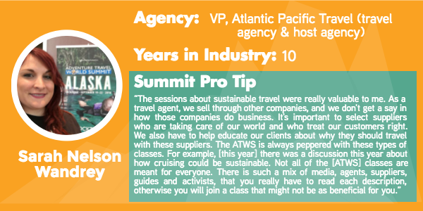 Adventure Travel World Summit Agent Tips from Sarah Nelson Wandrey