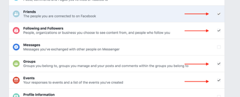 Download Facebook Networking Data, Step 4