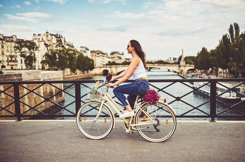 travel agent on bike