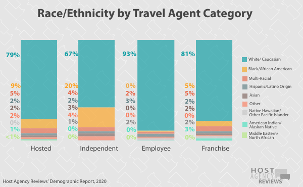 Race Ethnicity by Travel Agent Category