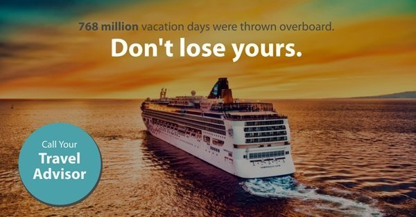768 million vacation days went overboard - don't lose yours