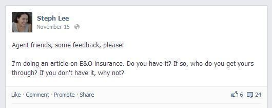Do Travel Agents Need E&O Insurance? facebook post