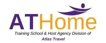 ATHome, Training School & Host Agency Division of Atlas Travel logo