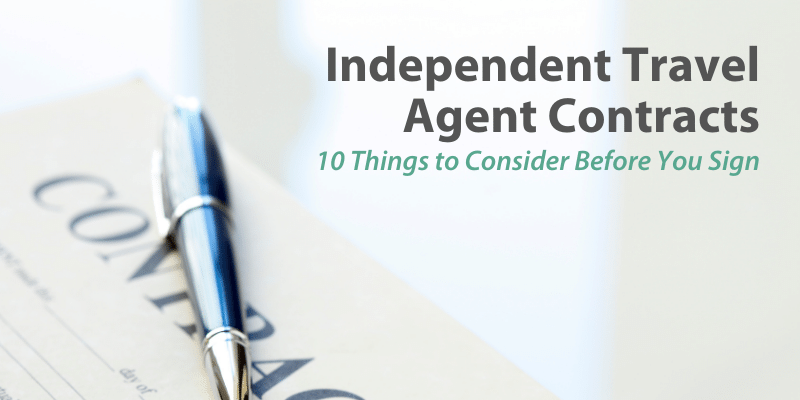 Independent Travel Agent Contracts
