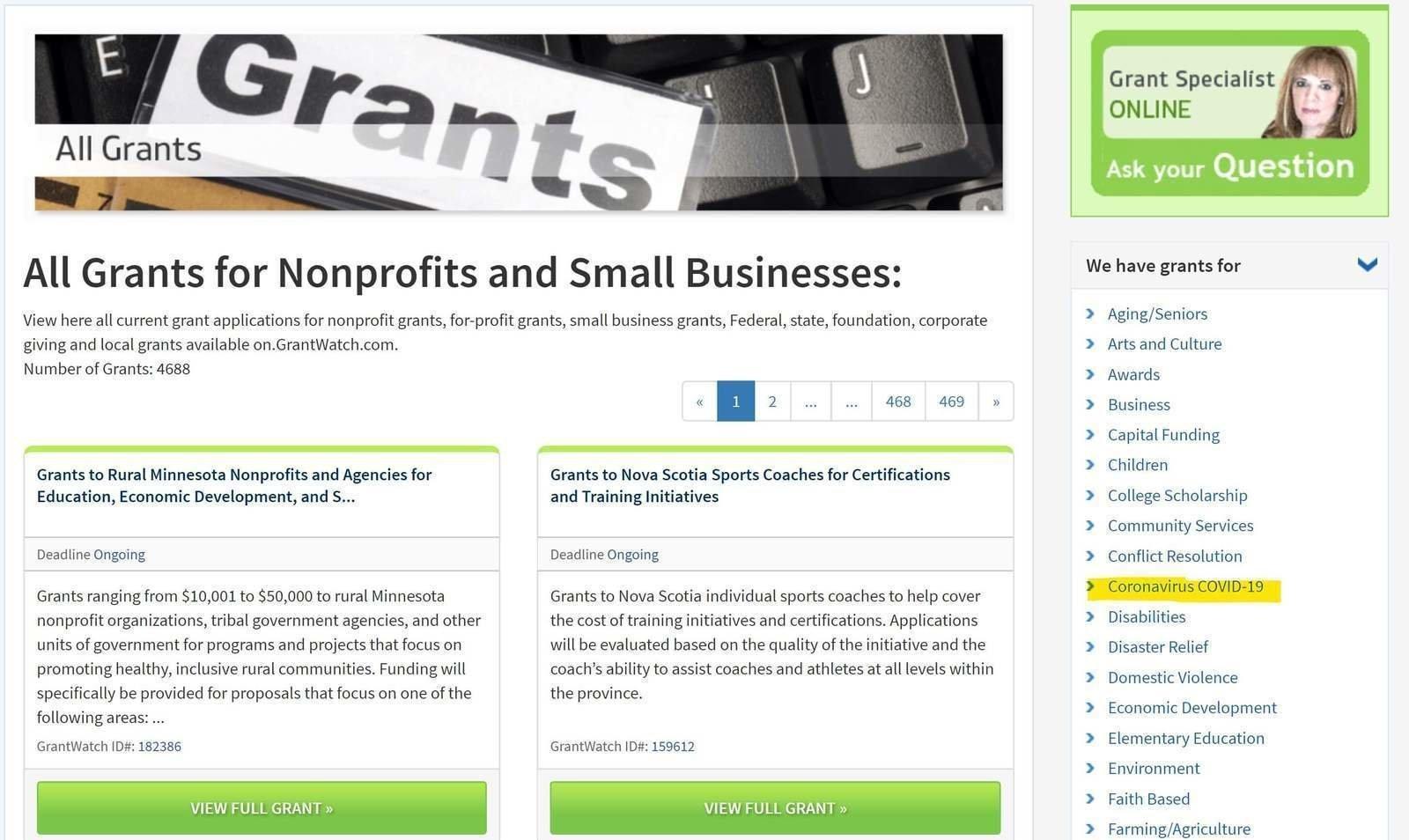 coronavirus-covid19-small-business-grants-grantwatch