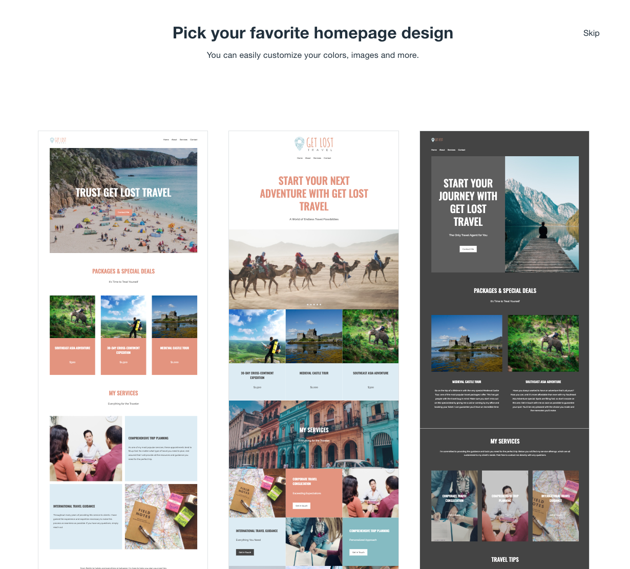 Wix Tutorial - Homepage Design Options