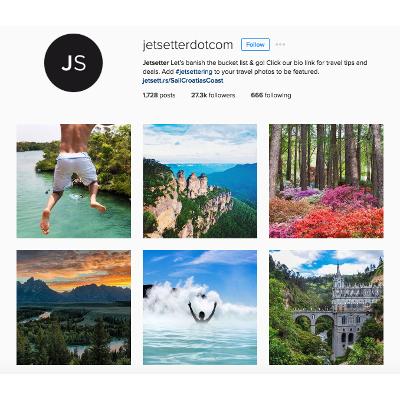 Travel Agent Social Media - Jetsetter