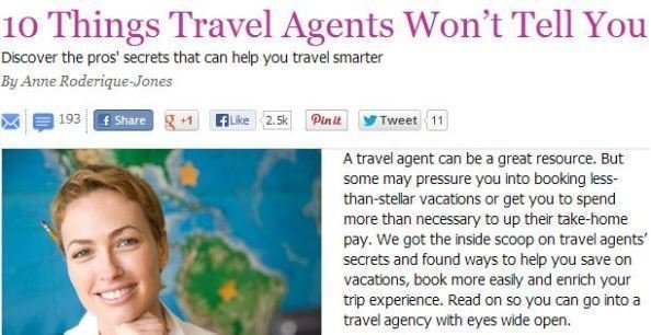 Womans Day Travel Agent Article