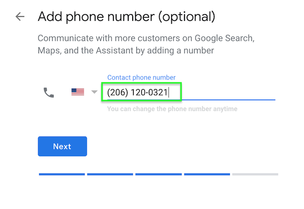 Step 6 - Google My Business Phone Number