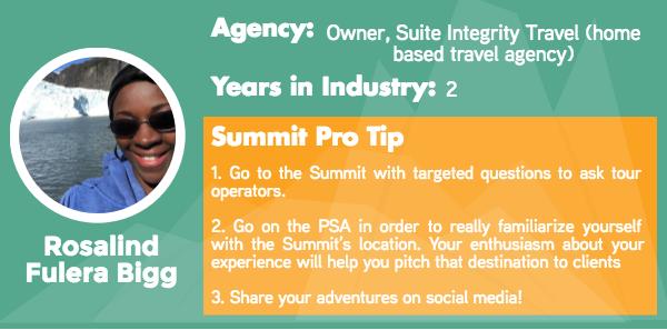 Adventure Travel World Summit Agent Tips from Rosalind Fulera Bigg