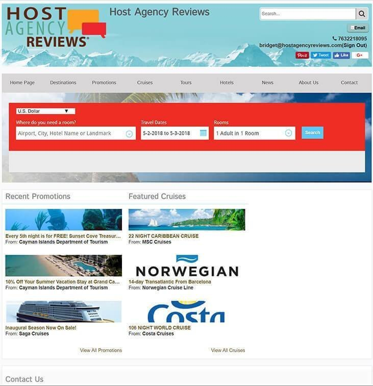 Travel Agency Websites, What are Your Options: Agent Studio