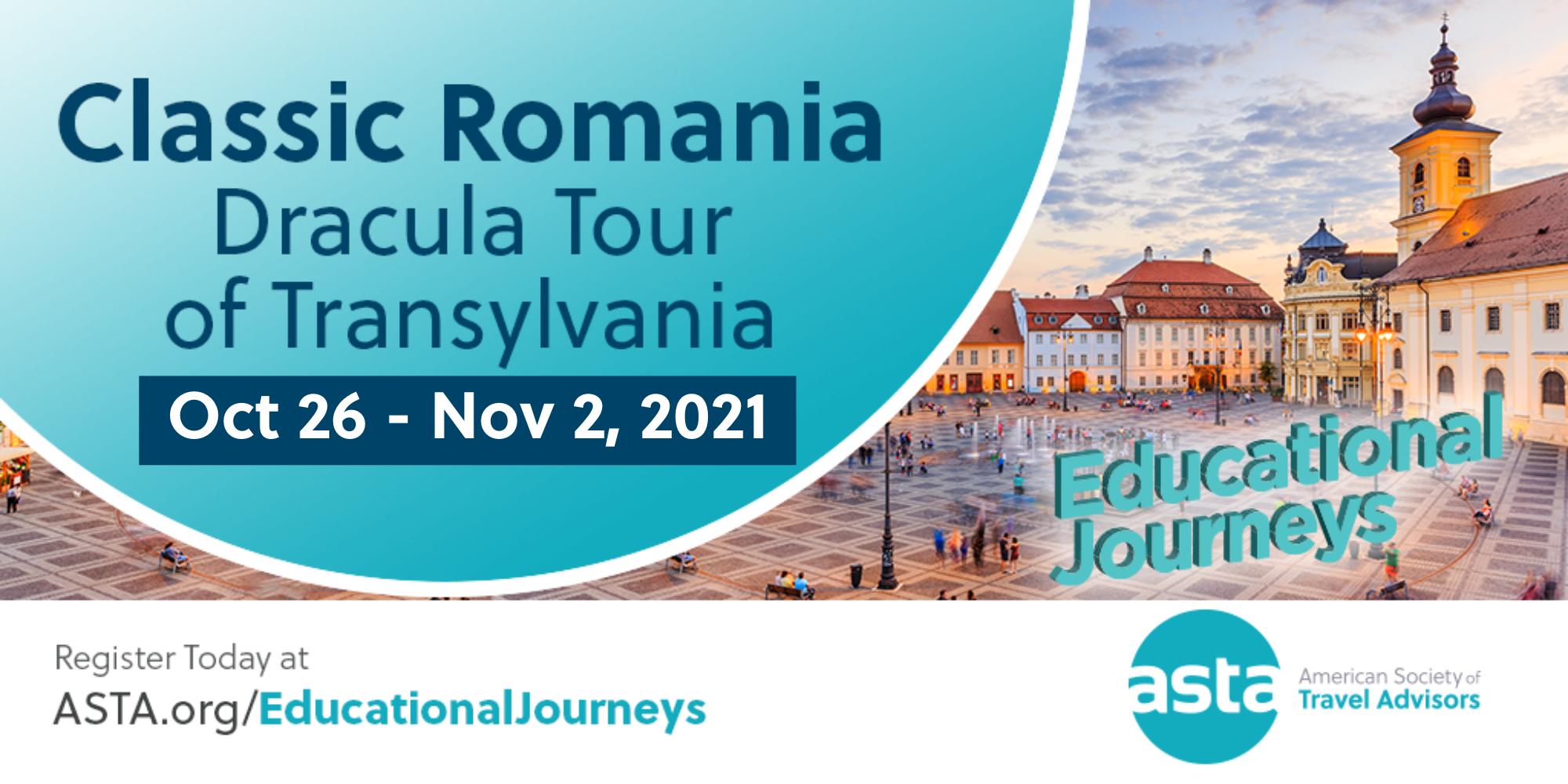 ASTA FAM to Romania: Dracula Tour of Transylvania