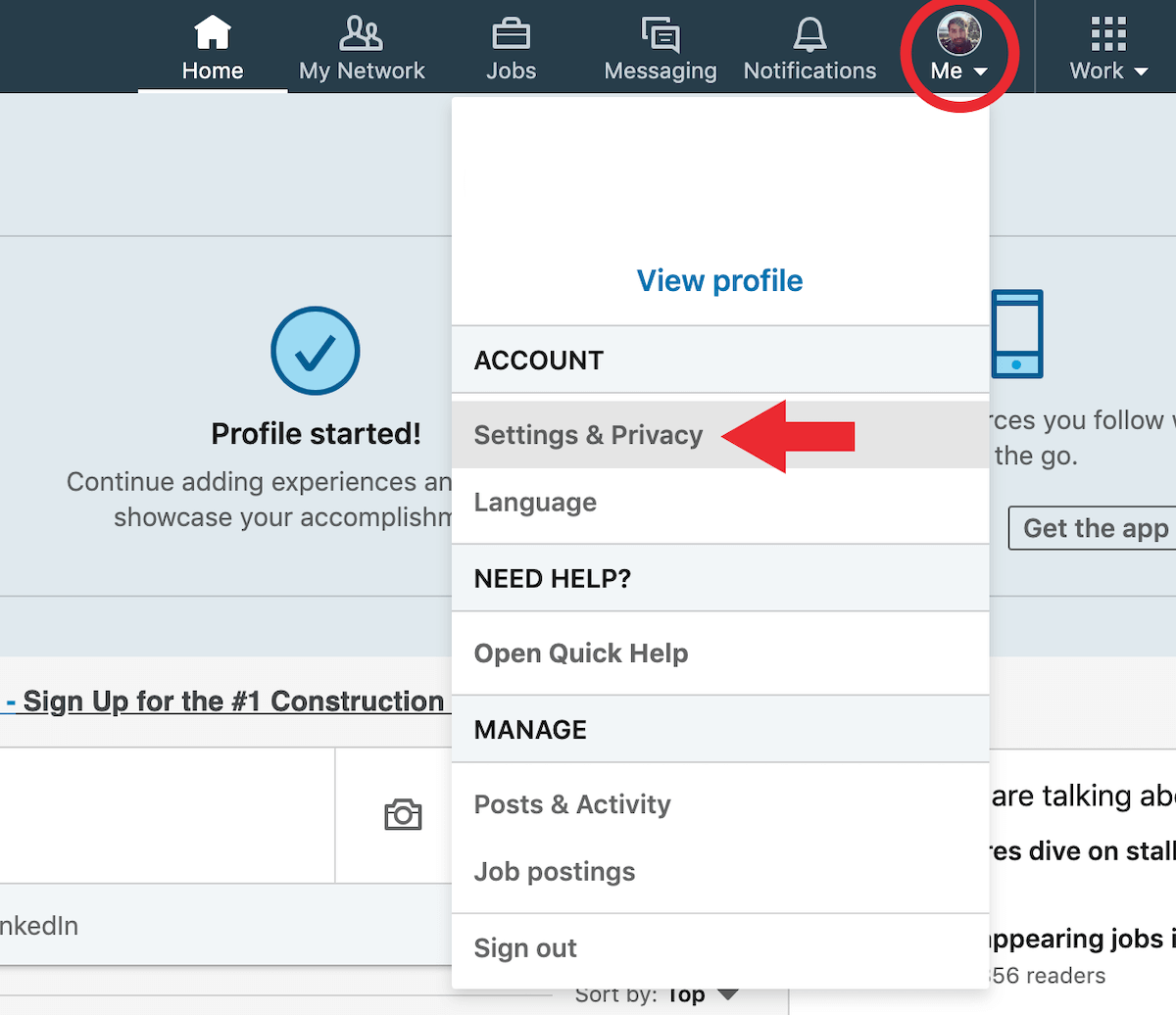 Download LinkedIn Networking Connections Step 1