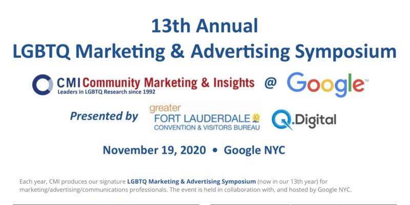 Community Marketing & Insights 13th Annual LGBTQ Marketing & Advertising Symposium